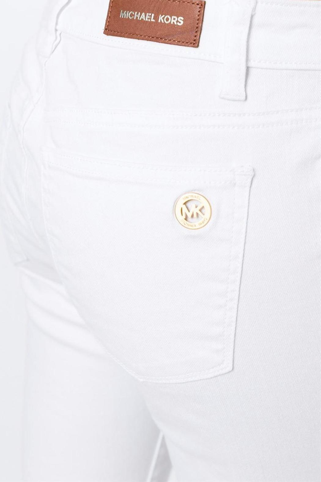 Michael by Michael Kors White-Skinny Mid-Rise - Front Cropped Image