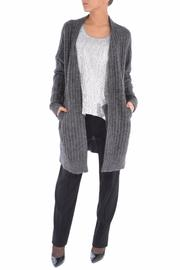 Michael by Michael Kors Mohair Ribbed Cardigan - Product Mini Image