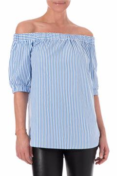 Michael by Michael Kors Off The Shoulder Striped - Product List Image