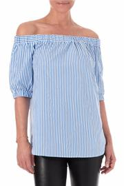 Michael by Michael Kors Off The Shoulder Striped - Front cropped