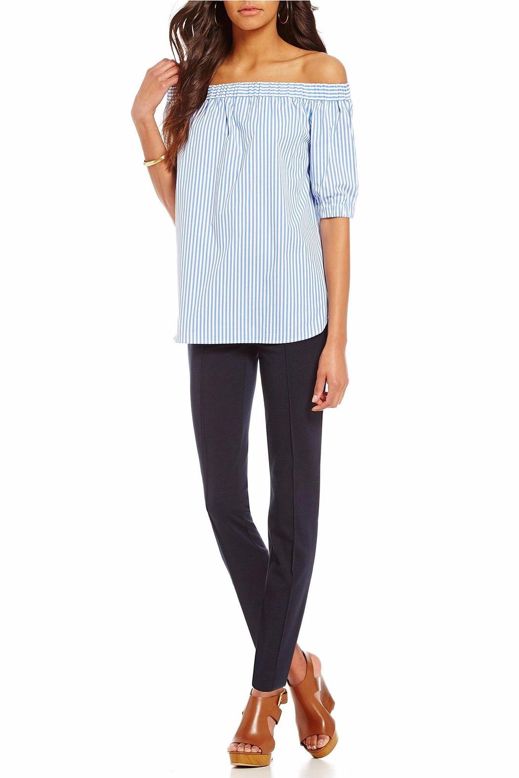 Michael by Michael Kors Off The Shoulder Striped - Front Full Image