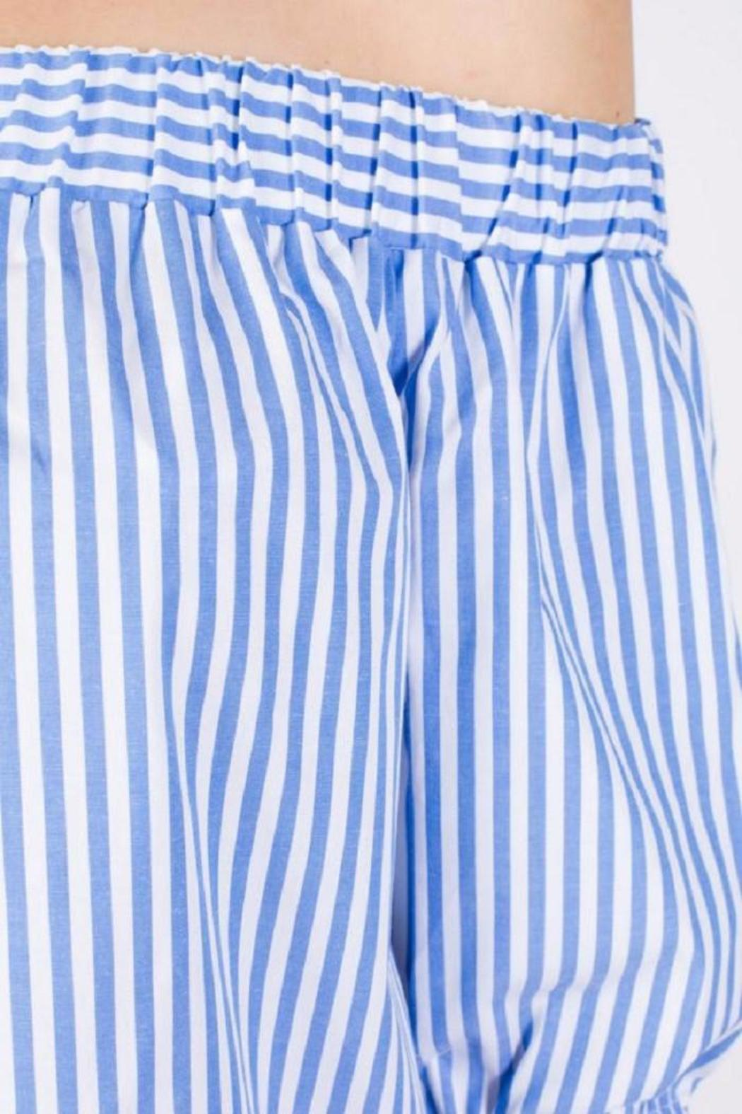 Michael by Michael Kors Off The Shoulder Striped - Side Cropped Image