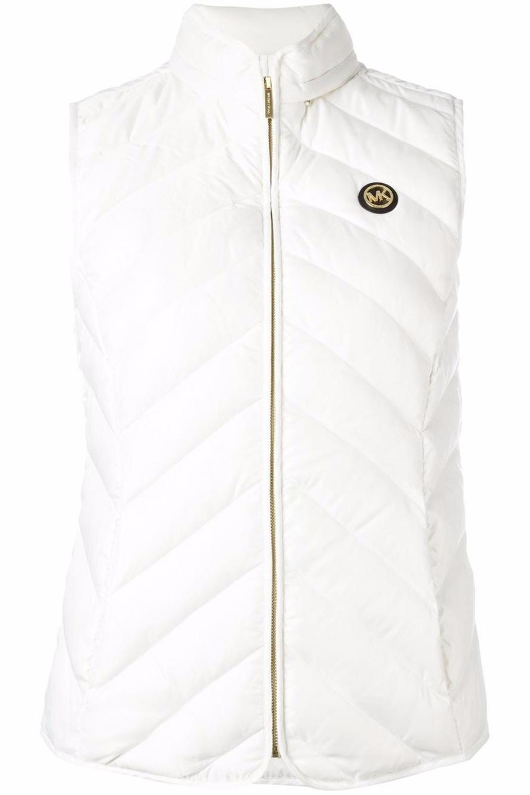 Michael by Michael Kors Packable Quilted Gilet - Back Cropped Image