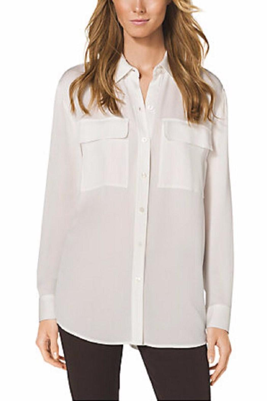 de7ede75e51acb Michael by Michael Kors Pocket-Front Silk Blouse from Toronto by The ...