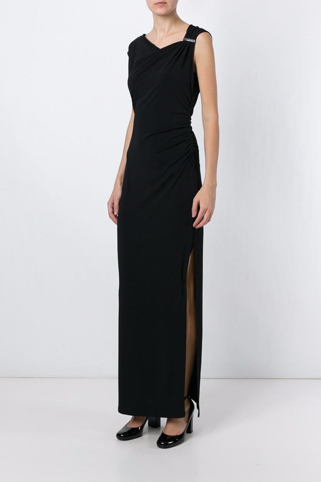 Michael by Michael Kors Side Slit Gown - Side Cropped Image