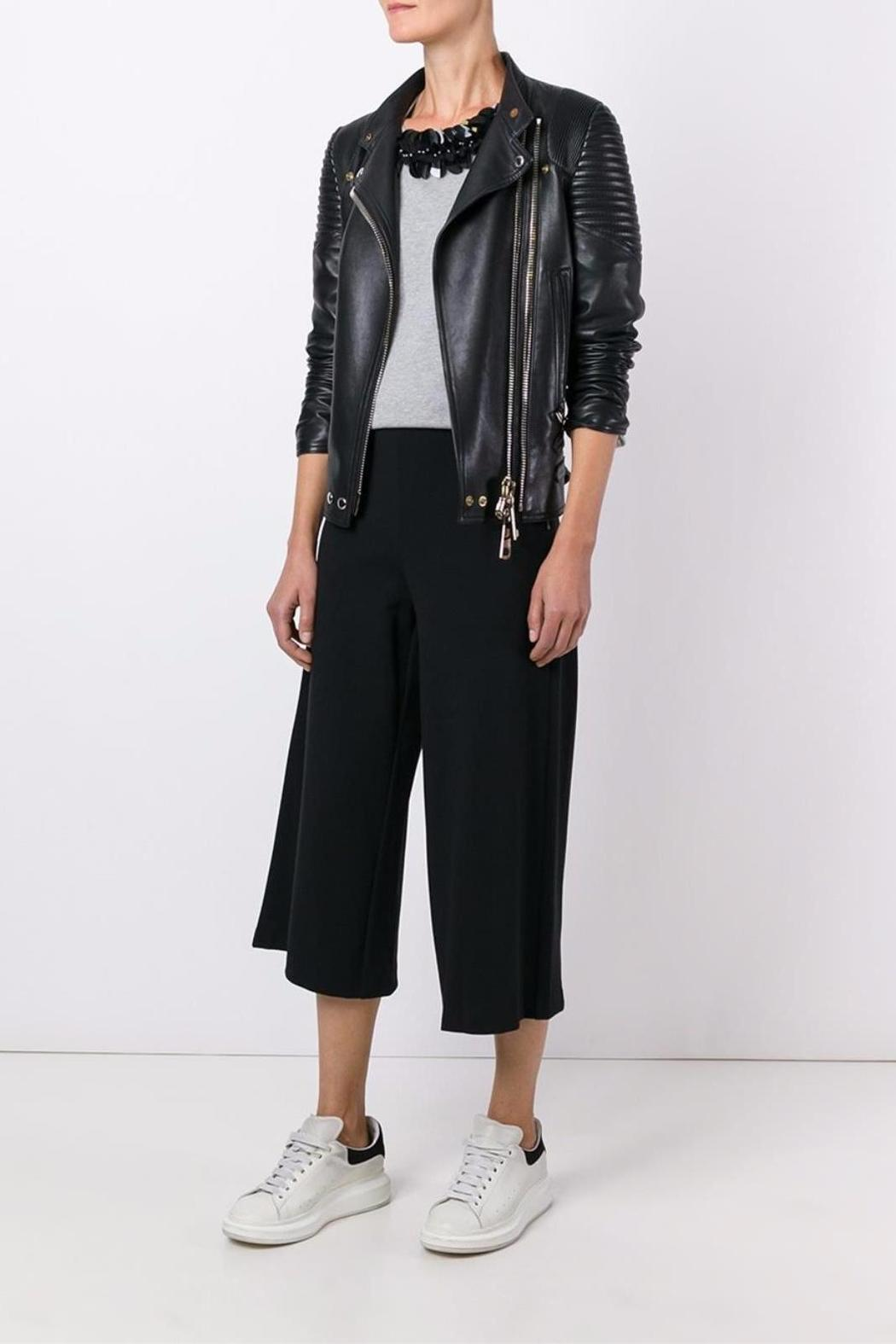 Michael by Michael Kors Side Zip Gaucho - Back Cropped Image