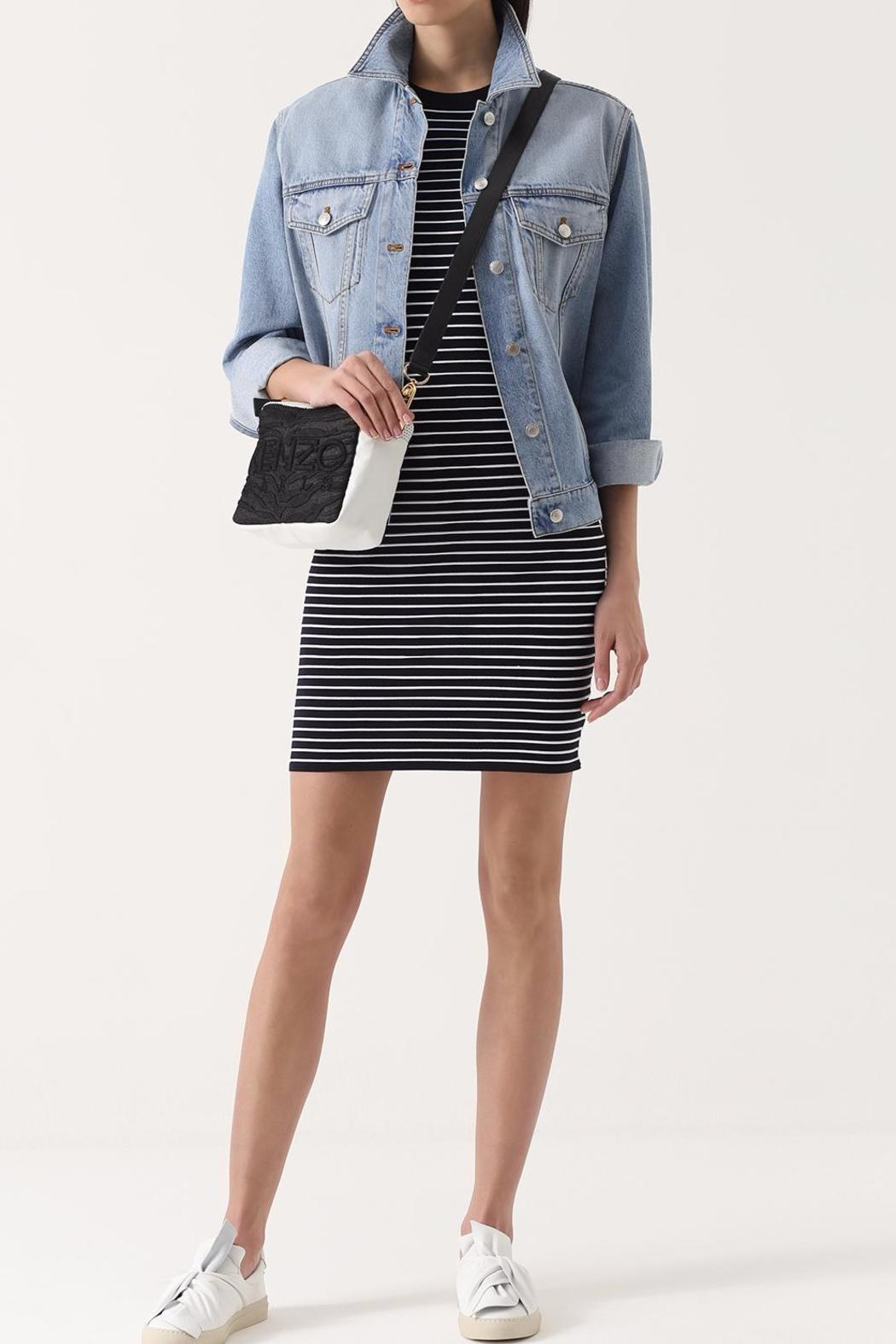 Michael by Michael Kors Striped Shirt Dress - Side Cropped Image