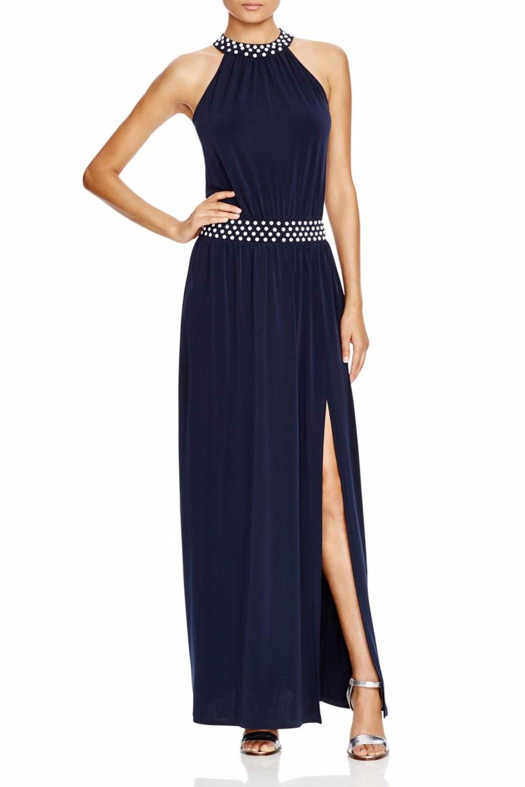 Michael By Kors Studded Halter Maxi Dress Front Cropped Image