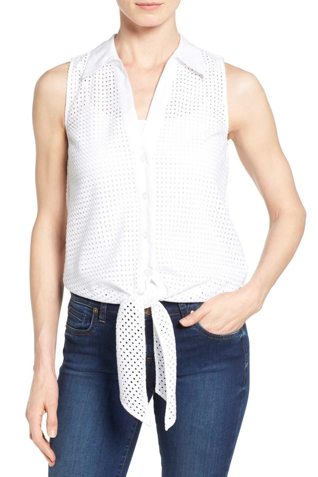 Michael by Michael Kors Tie Front Eyelet Top - Main Image