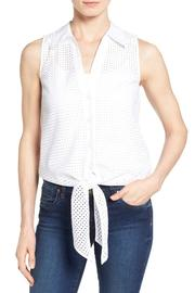 Michael by Michael Kors Tie Front Eyelet Top - Product Mini Image