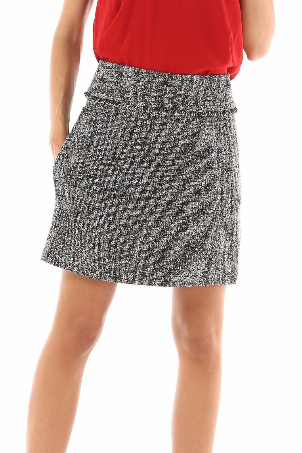 Michael by Michael Kors Tweed Mini Skirt - Front Cropped Image