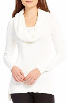 Michael by Michael Kors Waffle Cowl Neck Sweater - Alternate List Image