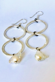 Michael Gabriel Designs Double Hoop Pearl - Front cropped