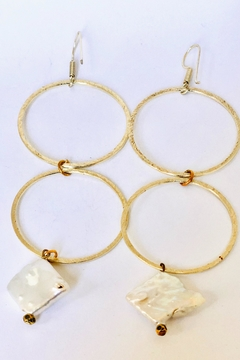 Michael Gabriel Designs Gold Double Hoop Geo - Alternate List Image