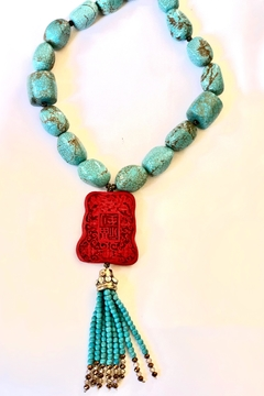Michael Gabriel Designs Ming Red Necklace - Product List Image
