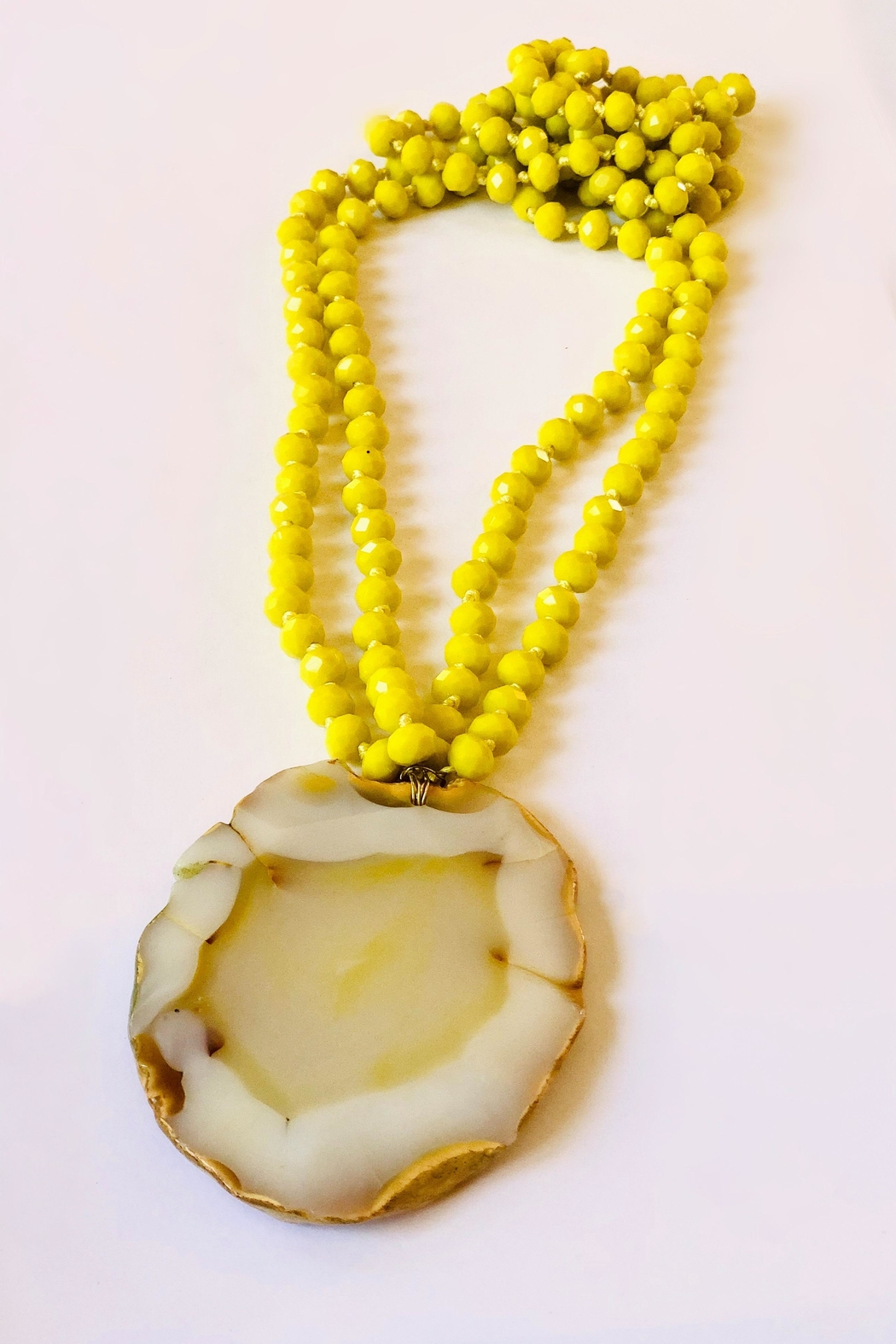 Michael Gabriel Designs Yellow Crystal Pendant - Front Cropped Image