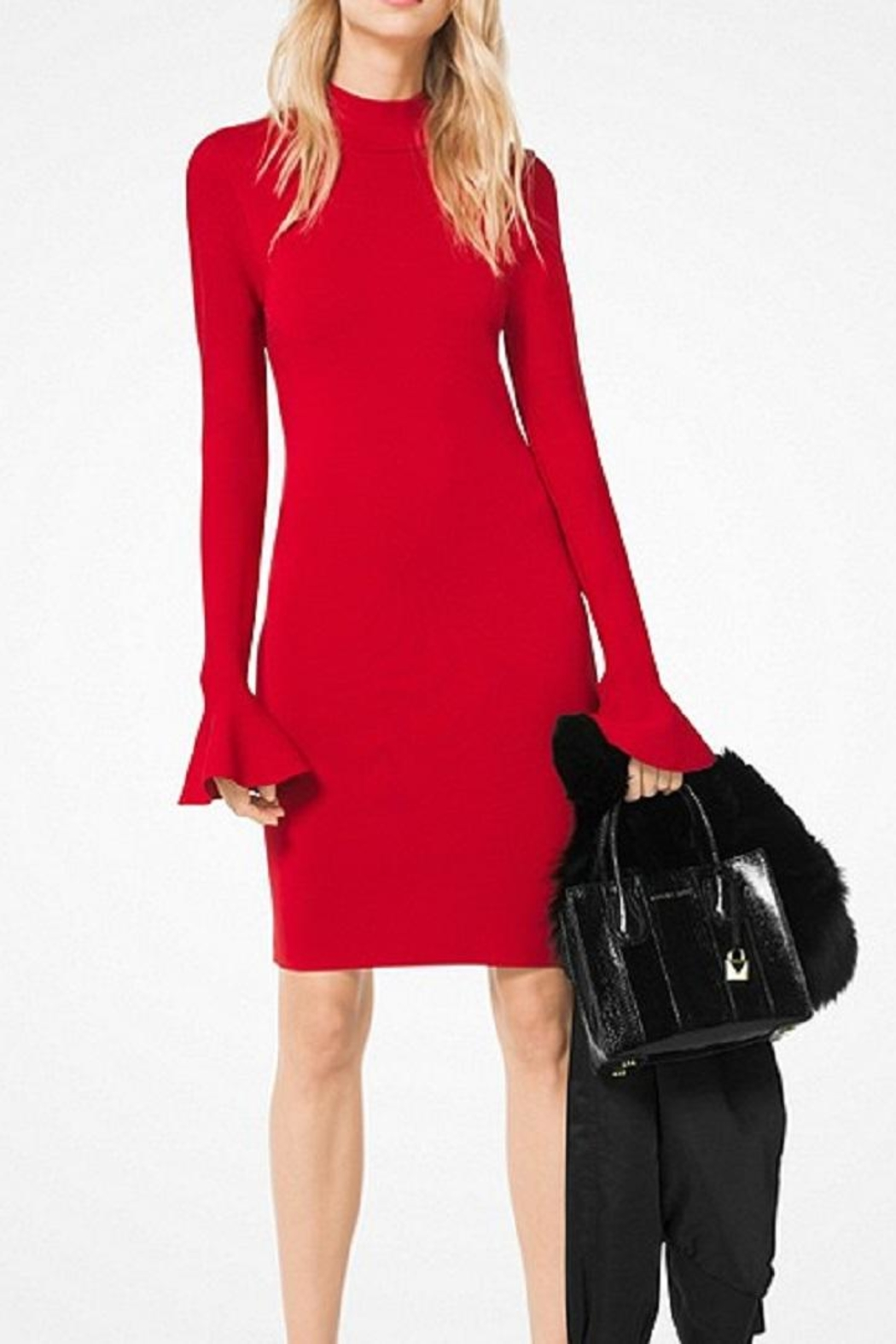 Michael Kors Bell-Sleeved Knit Dress - Main Image