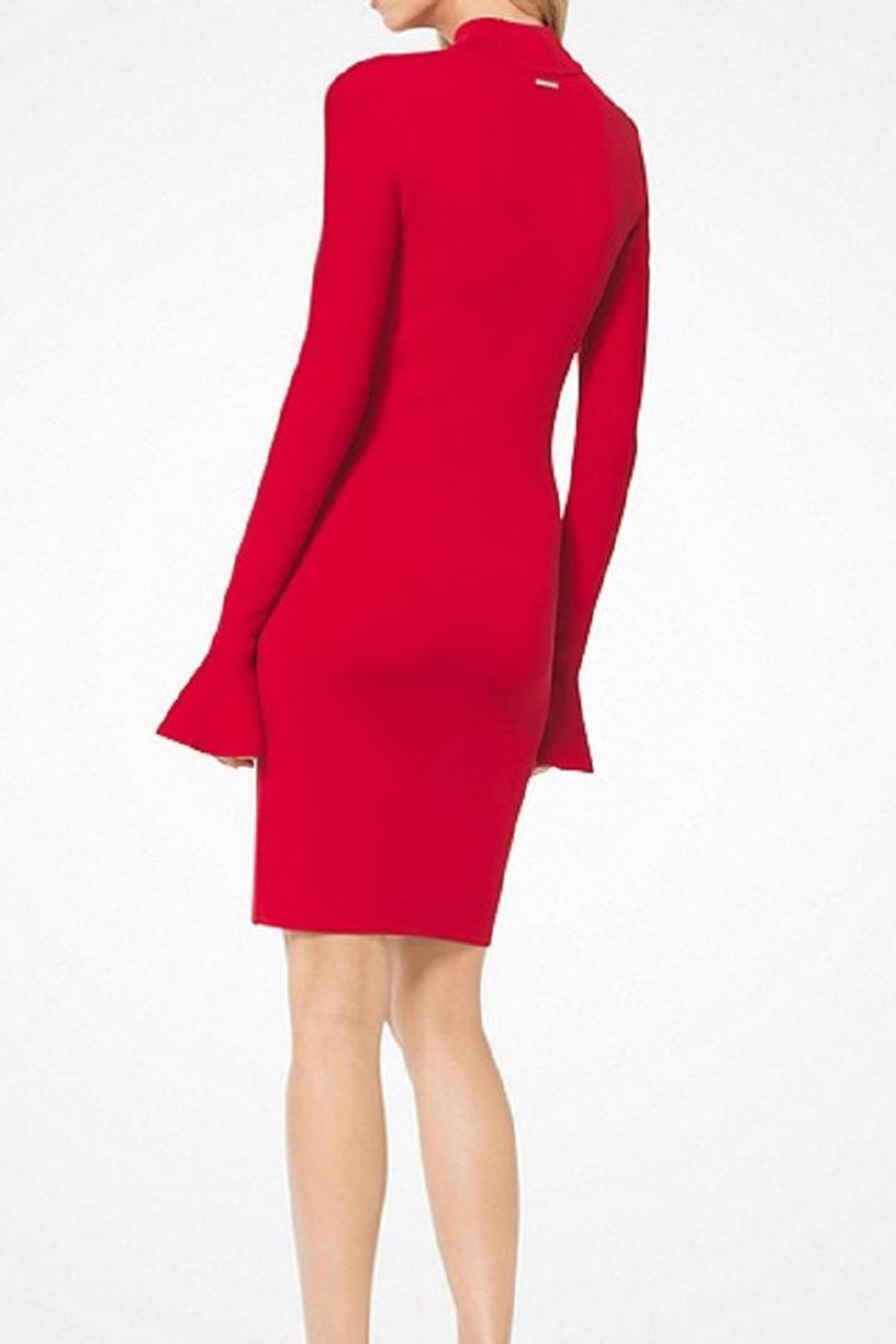 Michael Kors Bell-Sleeved Knit Dress - Front Full Image