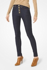 Michael Kors Button-Front Skinny Jean - Product Mini Image