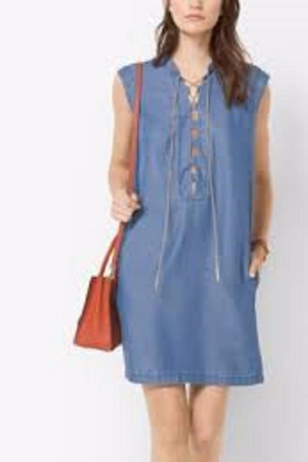 Michael Kors Chambray Lace Up Shift Dress from Toronto by The ...