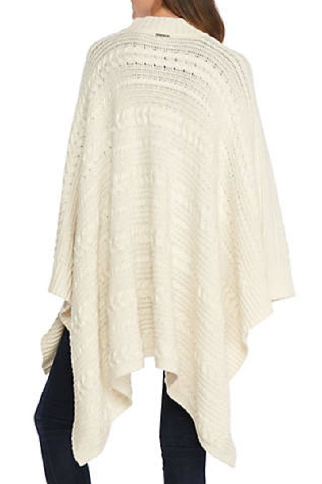 Michael Kors Cream Cable Cape - Front Full Image