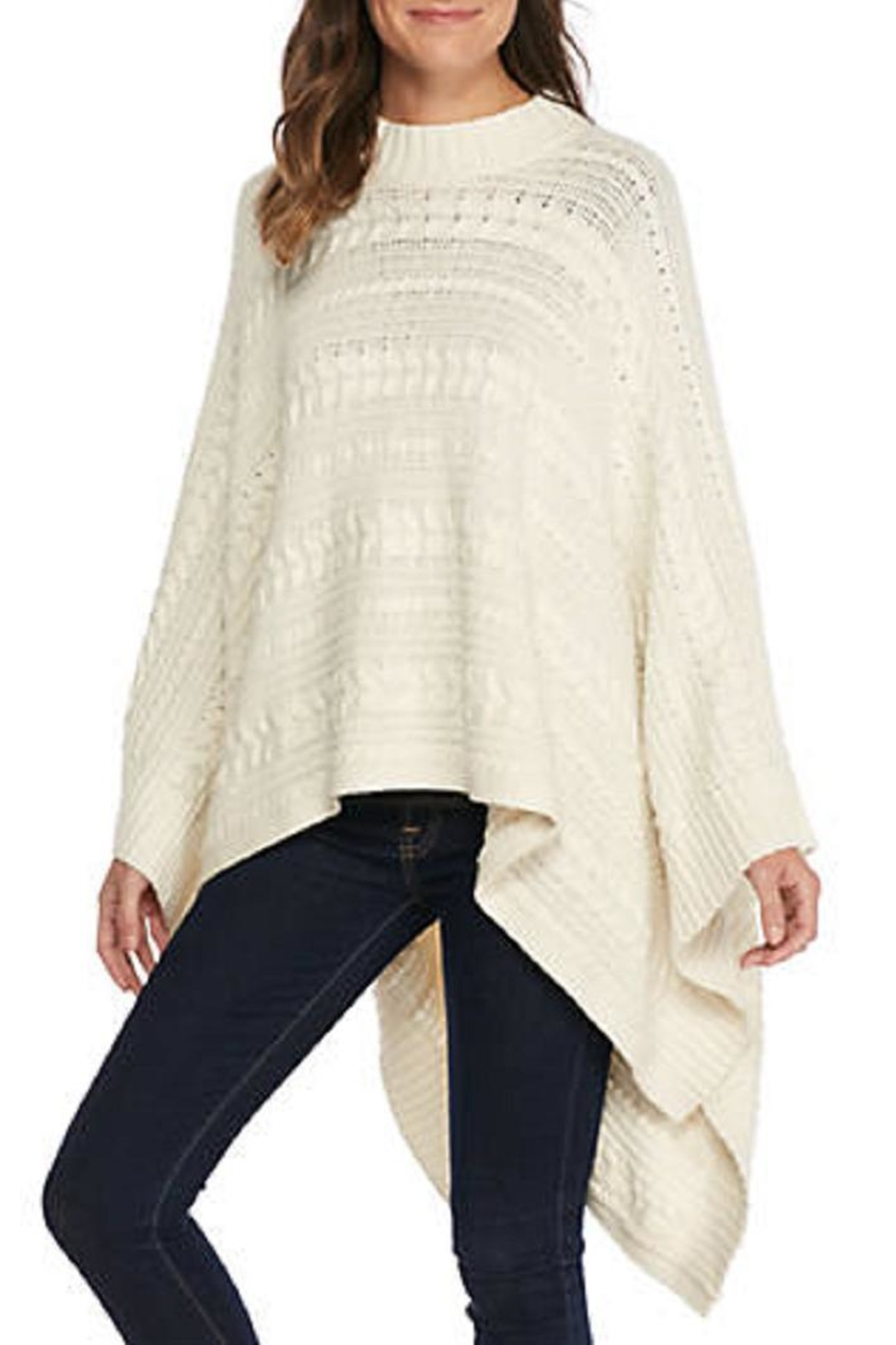 Michael Kors Cream Cable Cape - Main Image