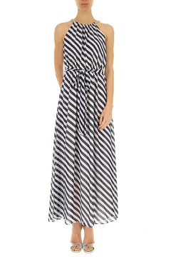 Shoptiques Product: Diagonal Striped Georgette-Dress