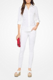 Michael Kors Floral-Embroidered-Cotton-Poplin Shirt - Front cropped