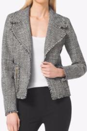 MICHAEL Michael Kors Frayed Tweed Jacket - Front cropped