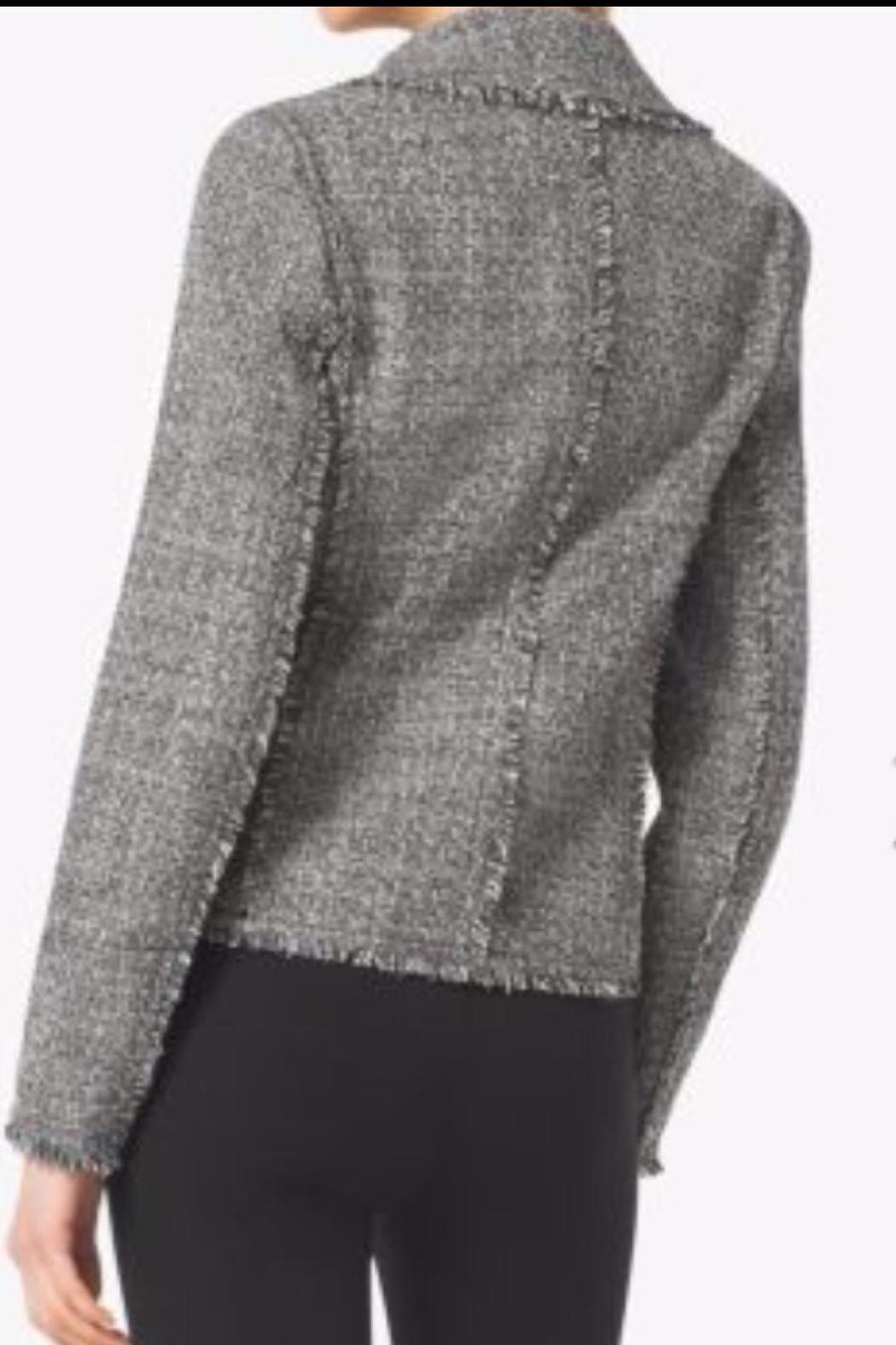 MICHAEL Michael Kors Frayed Tweed Jacket - Front Full Image