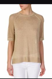Michael Kors Gold Mesh Sweater - Front cropped
