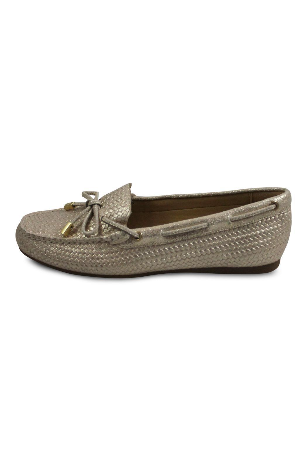 Michael Kors Gold Moc Loafer - Front Cropped Image