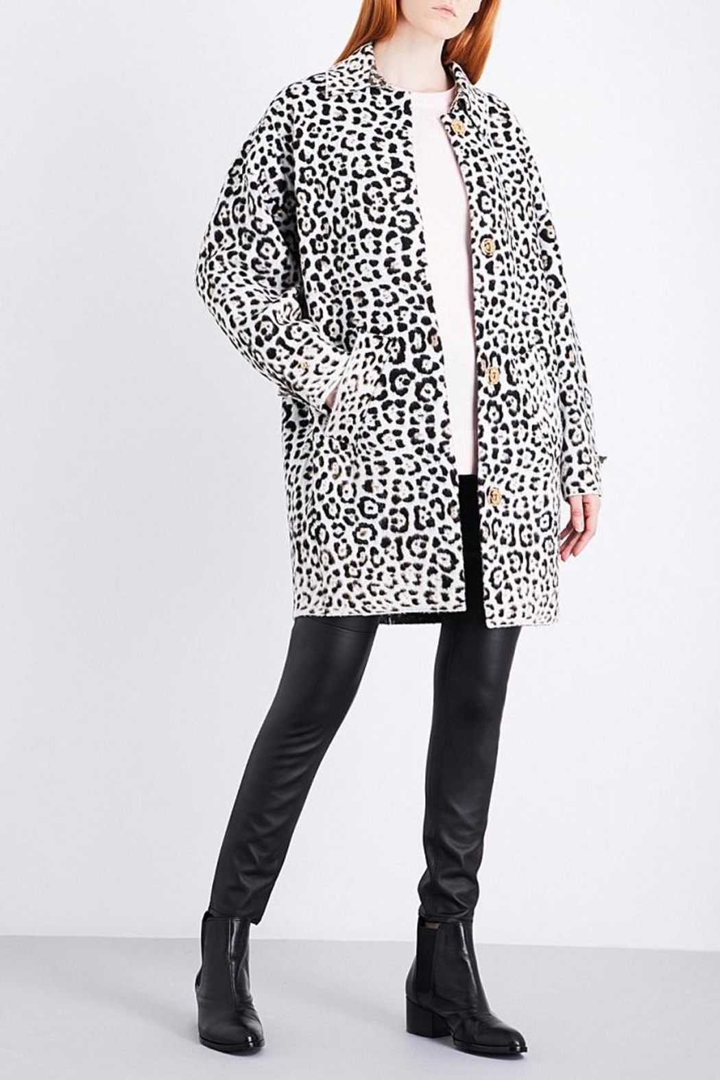 Michael Kors Leopard Wool Blend Jacket - Main Image