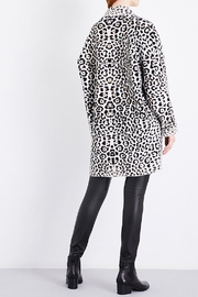 Michael Kors Leopard Wool Blend Jacket - Front full body