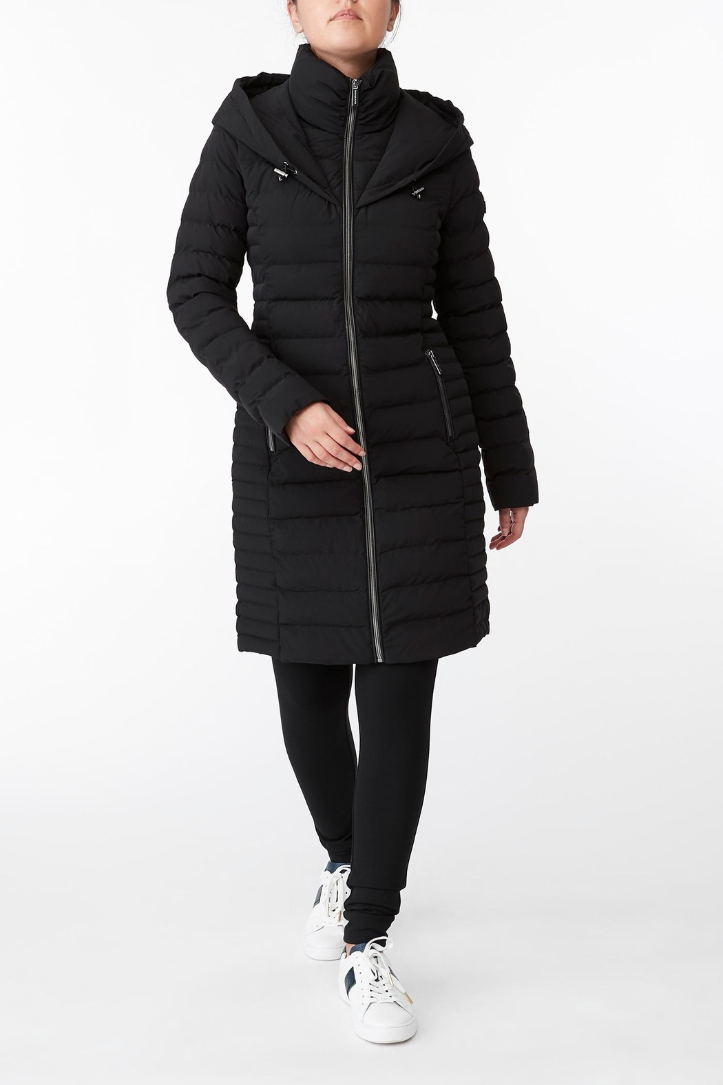 Michael Kors Quilted Stretch Nylon Puffer Coat - Main Image