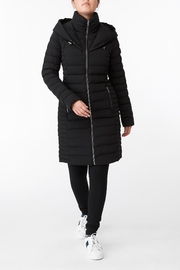 Michael Kors Quilted Stretch Nylon Puffer Coat - Front cropped