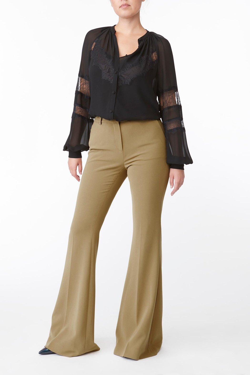Michael Kors Solid Lace Inset Top - Main Image