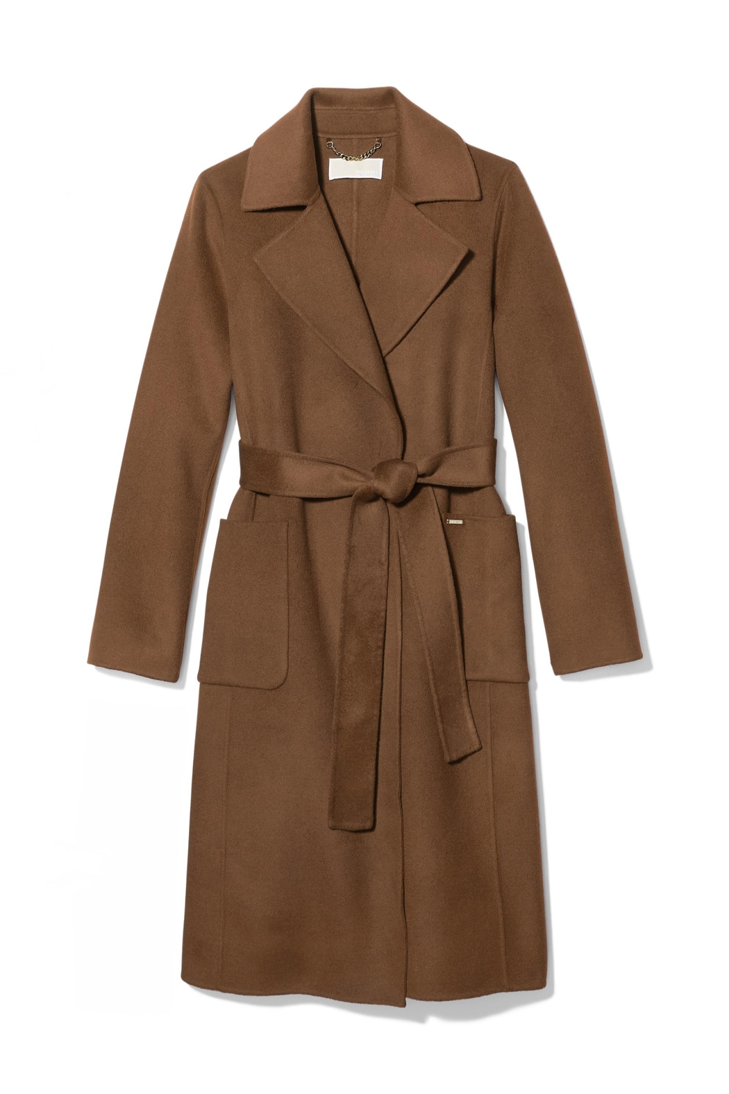 Michael Kors Wool Wrap Coat - Front Cropped Image
