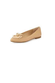 Michael Kors Nude Leather Loafers - Front cropped