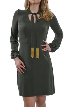 Shoptiques Product: Olive Long-Sleeved Dress