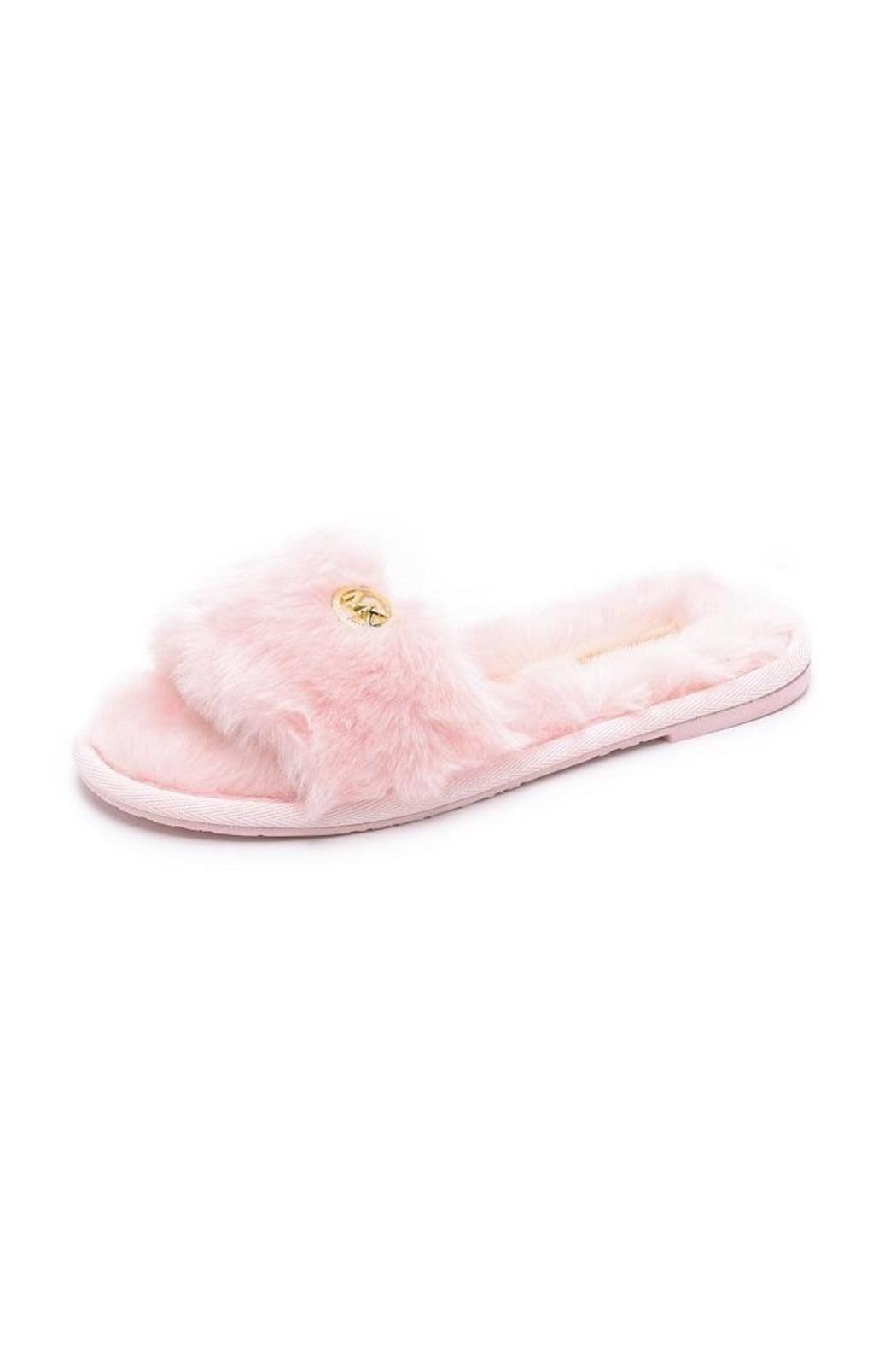 fcfb2fee8a3d Michael Kors Pink Fuzzy Slippers from Canada by Modern Sole — Shoptiques