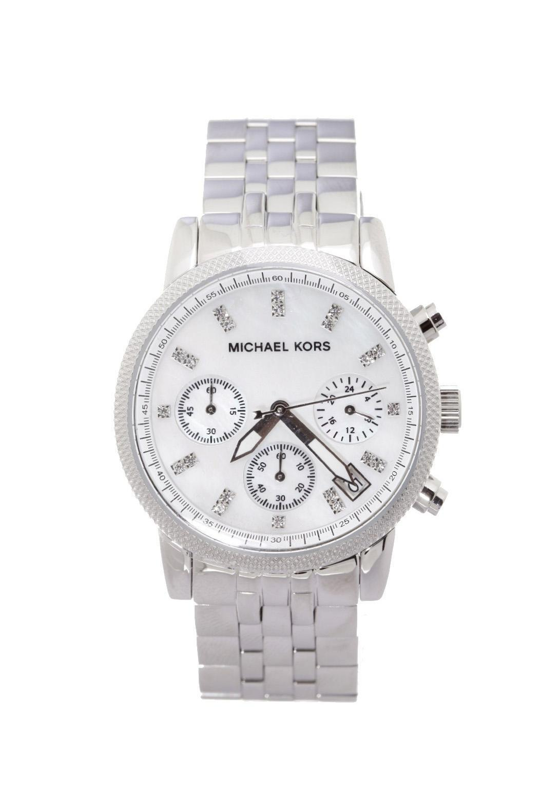 Michael Kors Silver Glitz Watch - Main Image