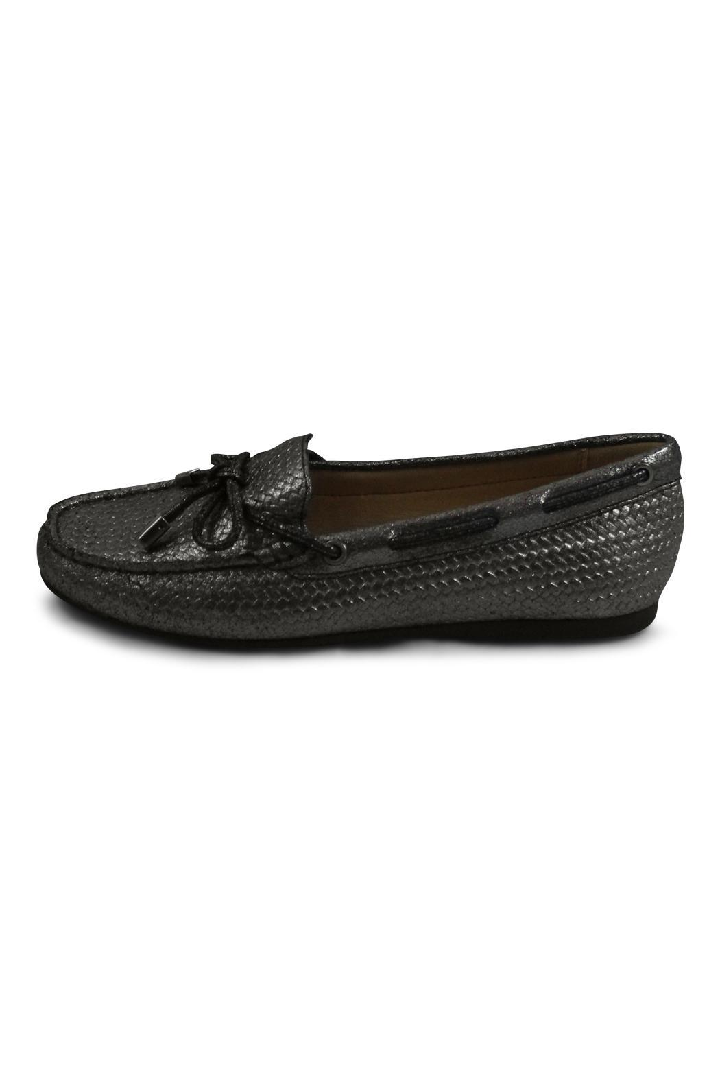 Michael Kors Silver Moc Loafer - Front Cropped Image
