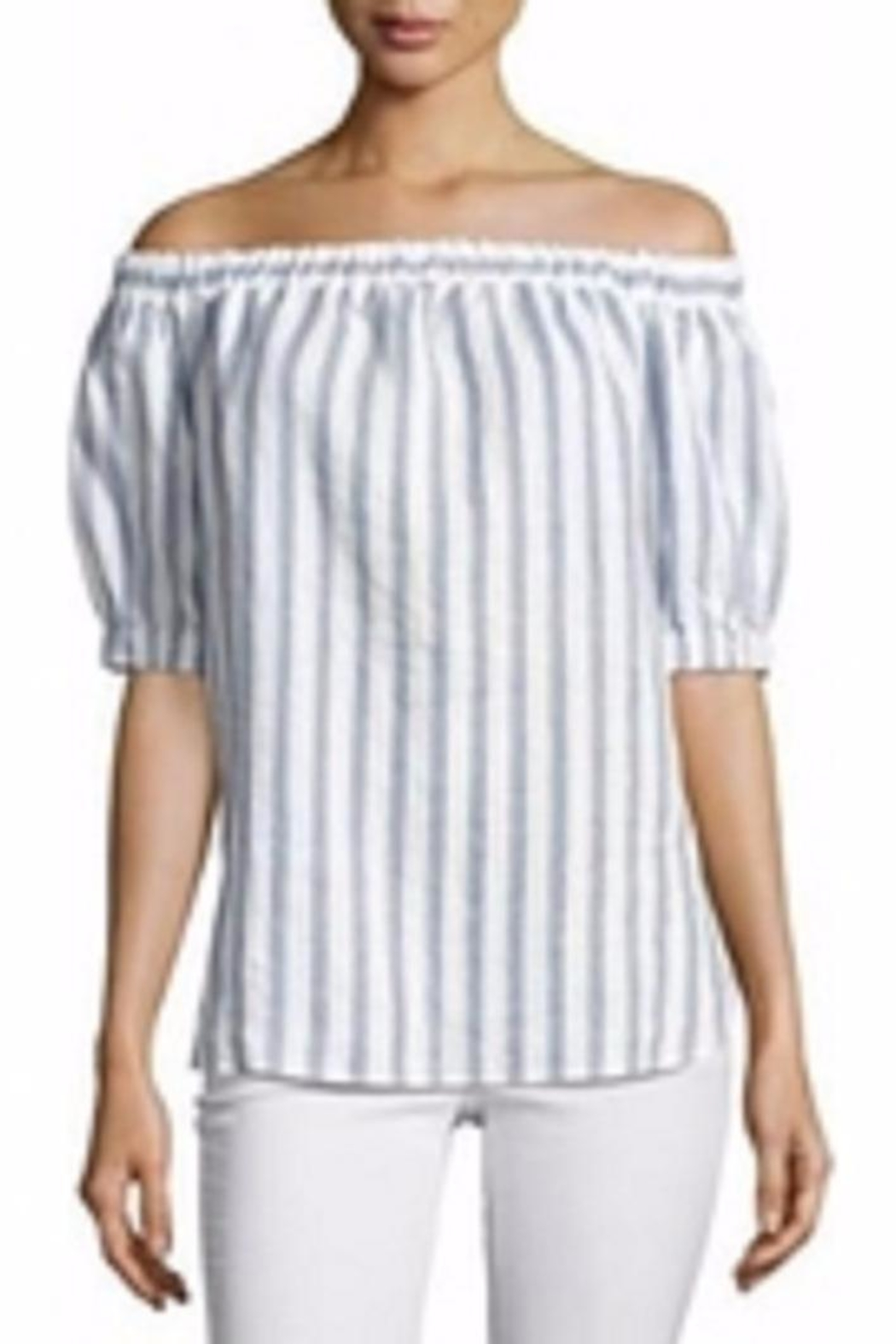 cc53b8fedeb7d Michael Kors Striped Off-The-Shoulder Top from Toronto by The ...