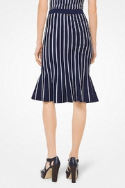 Michael Kors Striped-Stretch Trumpet Skirt - Front full body