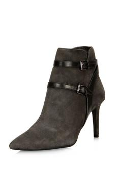 Shoptiques Product: Suede Heeled Bootie