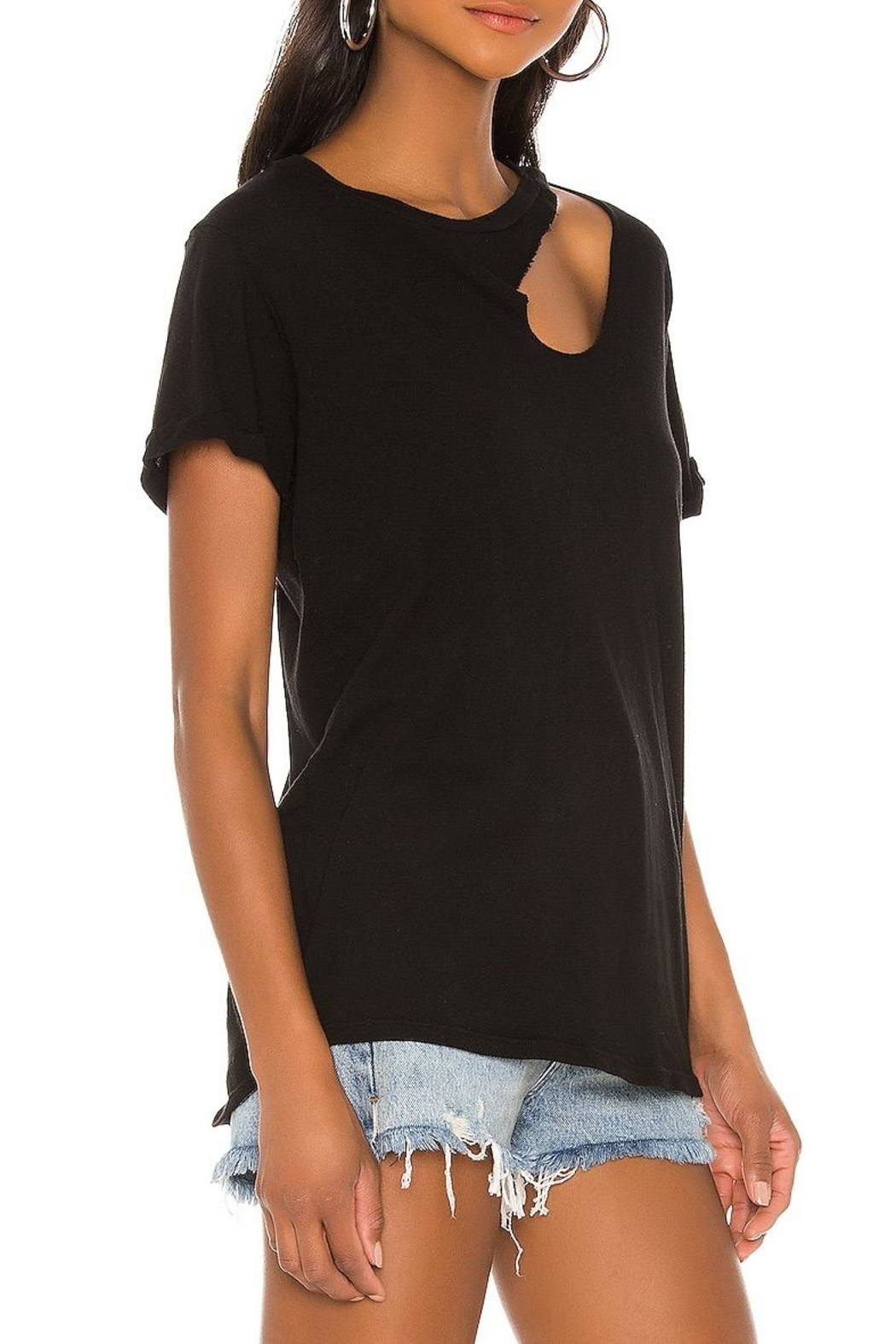 Michael Lauren Berkley Cut-Out Tee - Front Full Image