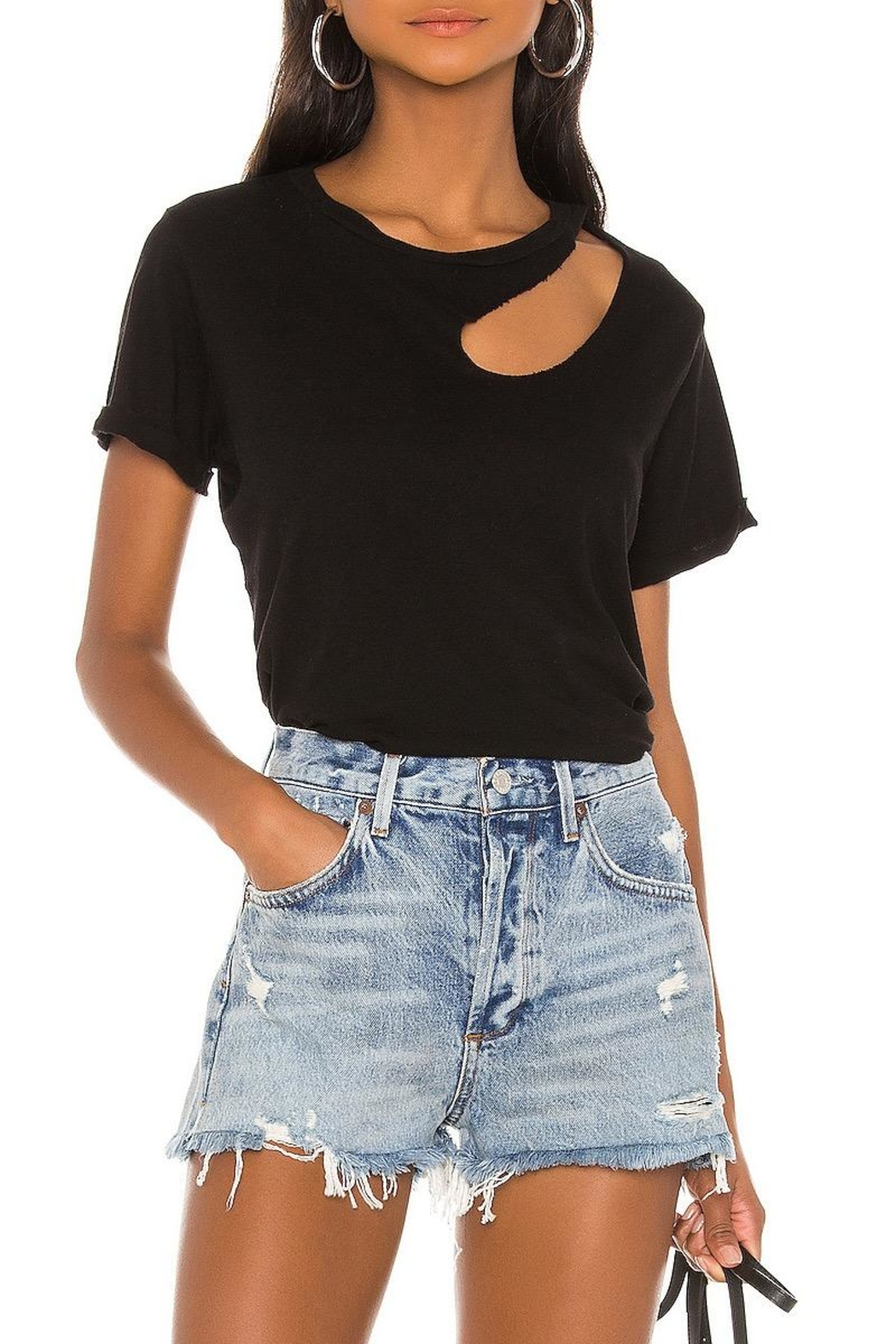 Michael Lauren Berkley Cut-Out Tee - Main Image