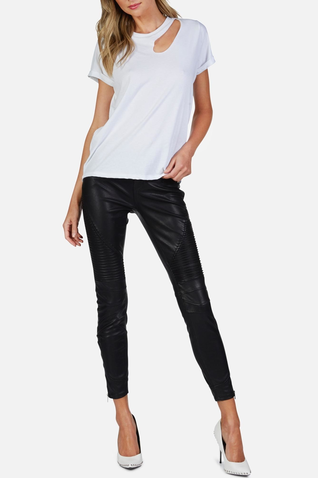 Michael Lauren Berkley Cut-Out Tee - Front Cropped Image
