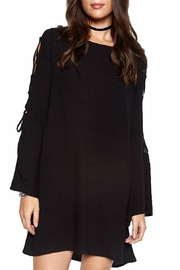 Michael Lauren Lace Up Bell Sleeve - Front full body